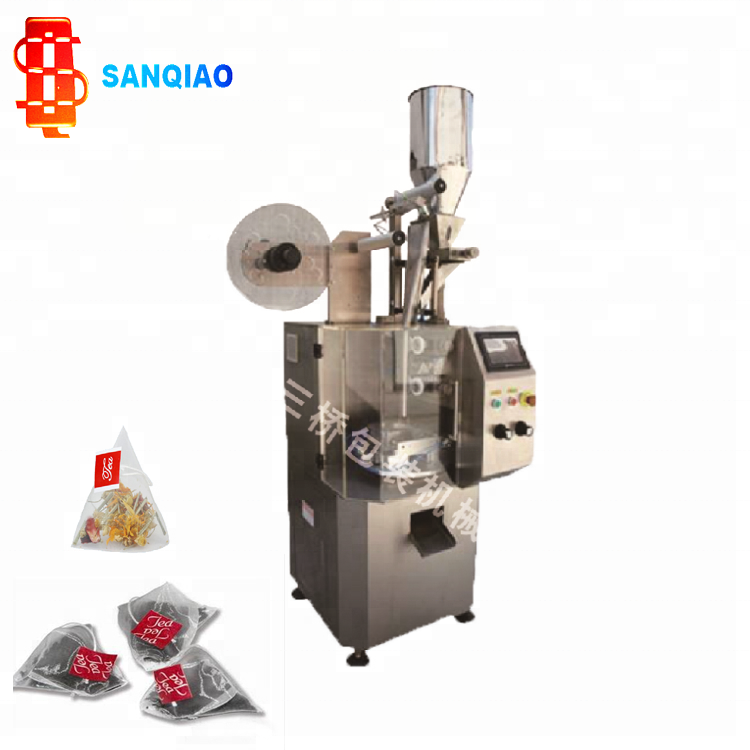 Triangle Nylon Food Tea Bag Automatic Pouch Packing Machine